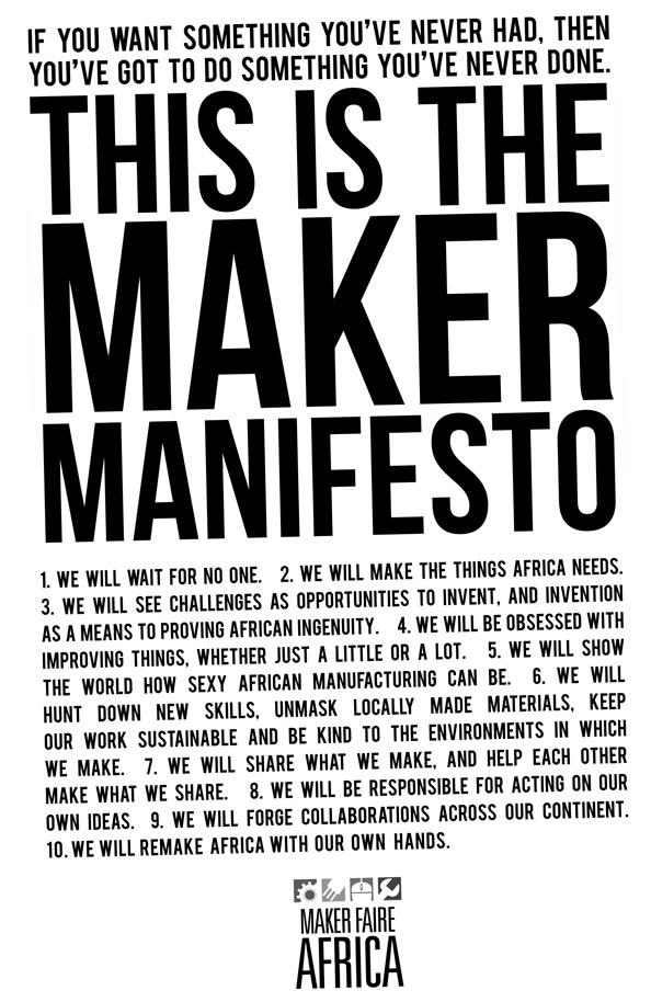The Maker Manifesto Make Wealth History
