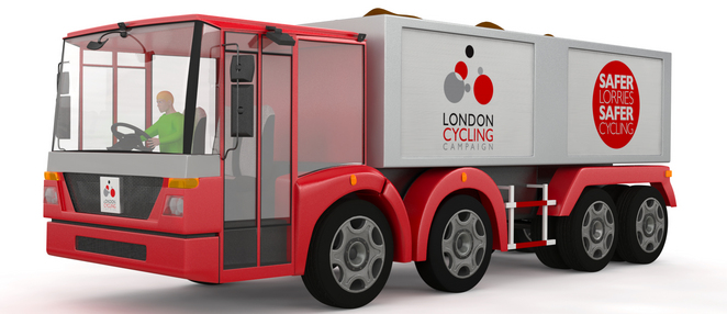 cyclists lorry