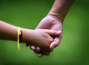 child hands