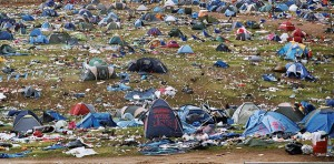 tents rubbish